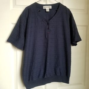 Alfred Dunner navy blue top